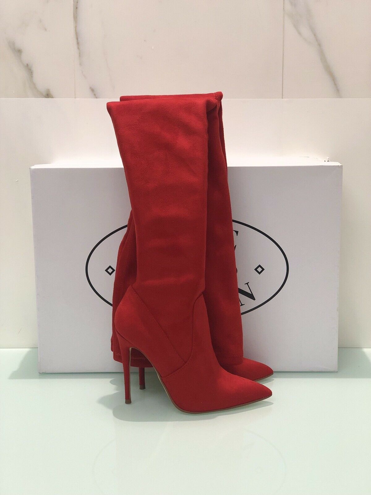 Boot Cuissard Knee Length Steve Madden Dominique Woman Red