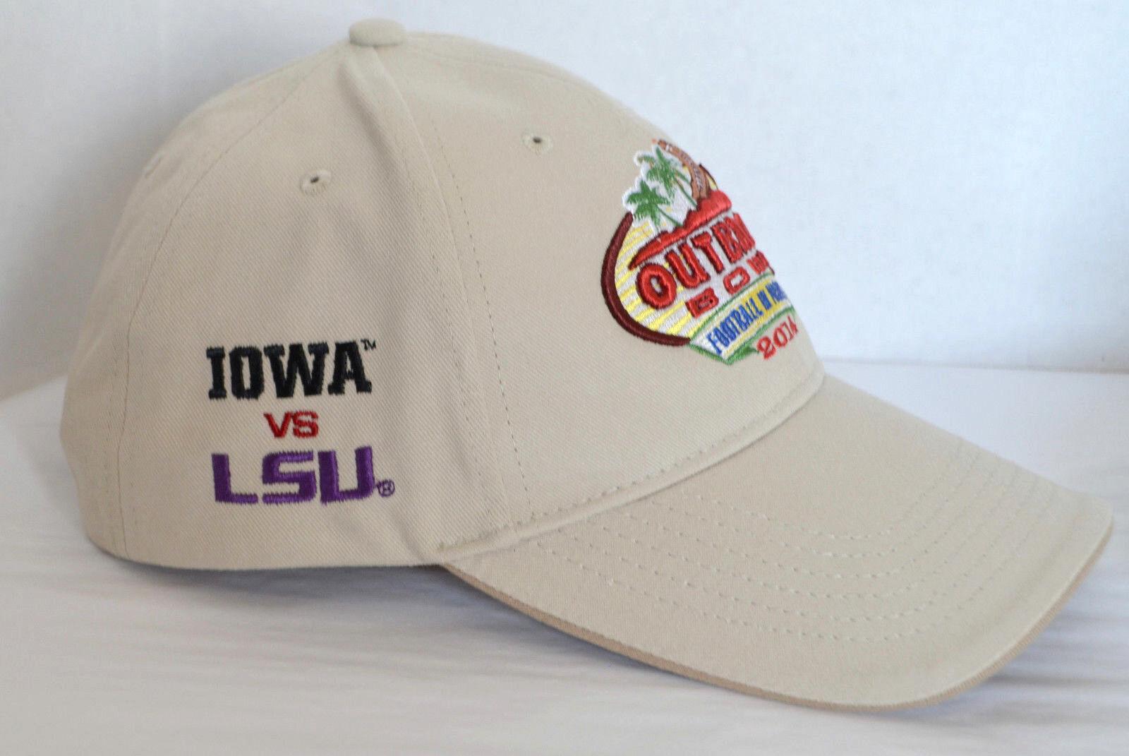 New Outback VS Bowl 2014 Hat Iowa VS Outback LSU Baseball Ball Cap Lid Football Sports Adj b4a9a4