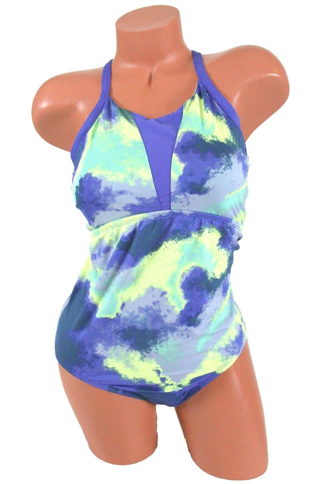 581c42d6e3e Buy Nike Active Cascade High Neck Racerback Blue One Piece Swimsuit ...