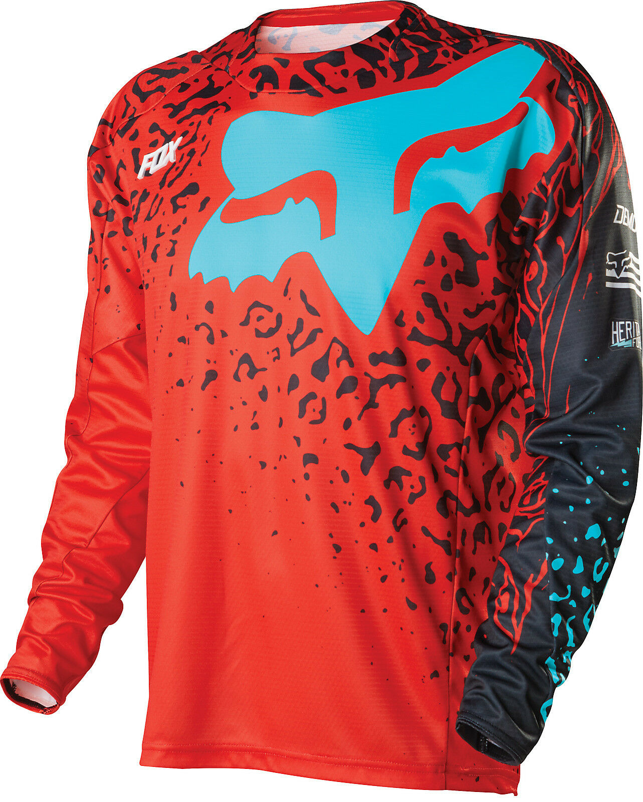 Fox Racing Demo Cauz LS Long Sleeve Jersey rosso