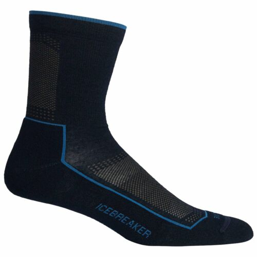 Midnight Icebreaker Mens Hike Cool Lite 3//4 Crew Sock