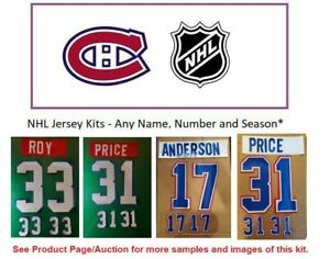 NHL Montreal Canadiens Lettering Custom Jersey Kit ANY Season Name Number UNSEWN