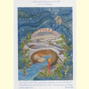 Yule xmas greeting card yule 21st december solstice pagan wiccan image is loading yule xmas greeting card yule 21st december solstice m4hsunfo