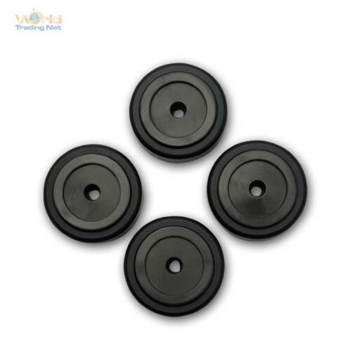 Pieds pour Hifi Dispositifs Aluminium Device-Pieds Argent//Noir 4 Pièces