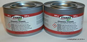 2-Tins-Of-Sterno-Fuel-Gel-Ideal-For-Mamod-amp-Other-Live-Steam-Engine-Models