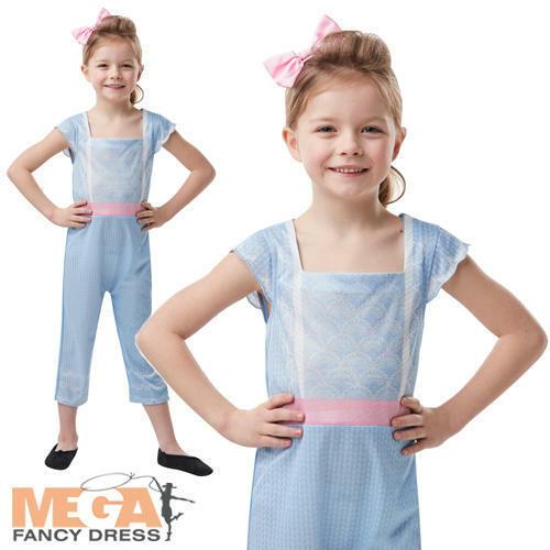 Bo Peep Girls Fancy Dress Disney Toy Story 4 Shepherd Kids Movie Costume Outfit