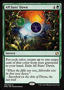 All Suns/' Dawn FOIL Modern Masters 2015 NM Green Rare MAGIC MTG CARD ABUGames