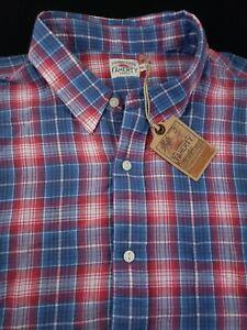 Faherty-Long-Sleeve-100-Cotton-Laguna-Plaid-Red-Blue-Sports-Shirt-XXL-129