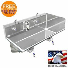 Hand Sink Industrial 2 Person 54 Hands Free Ss304 Right Side Splash Made In Usa