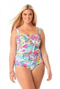 7c7059e69c2 Anne Cole NWT One Piece Bathing Suit Floral THIS BUD'S FOR YOU Plus ...