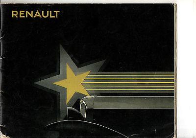 Catalogue Renault Gamme Stella 1932 Monastella Primastella Vivastella Nervastell In Pain