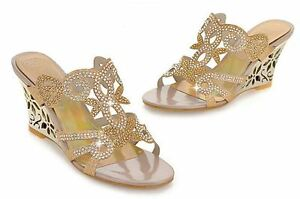 Eleganti Comodi Sandali 8 Sandalo Oro Zeppa Elegante Cm 34 Gioiello Stiletto Twfzx4q8R