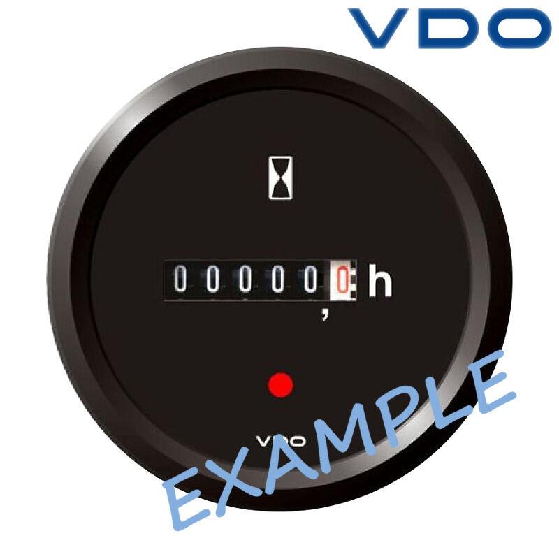 VDO Viewline Betriebsstundenzähler Anzeige Stiefel 52mm 2