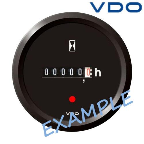 """VDO Viewline Betriebsstundenzähler Anzeige Boot 52mm 2/"""" schwarz A2C59510872"""
