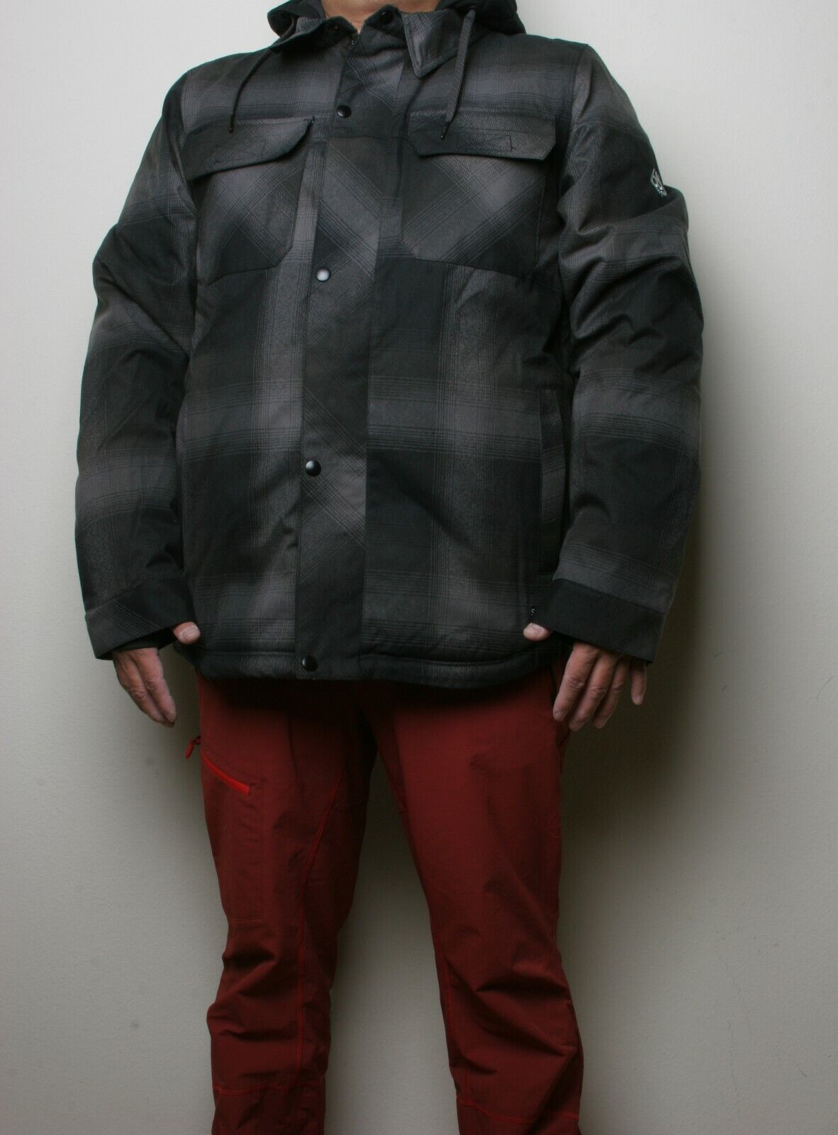 686 Woodland Insulated Jacket (L) Black Plaid M0W112-BLK