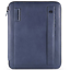 Piquadro-Stationery-Porta-blocco-A4-chiusura-zip-pelle-blu-PB2830P15S-BL miniatura 1