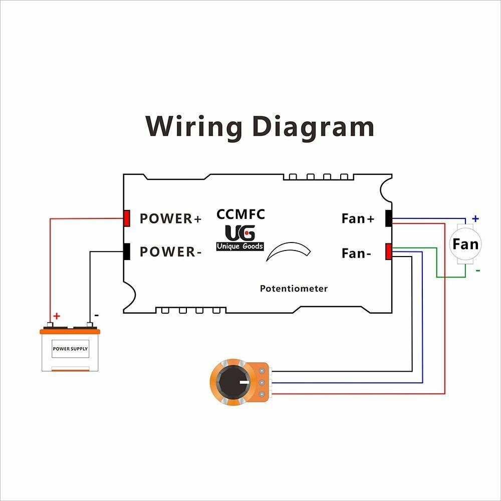 Dc 12v Pwm Motor Speed Control Controllor For Fan Pump Oven Blower Slide Potentiometer Wiring Diagram With Switch Ebay