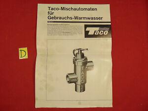 Alte Berufe Temperamentvoll Taco Taco-mischautomaten Für Gebrauchs-warmwasser Technische Daten Schrecklicher Wert