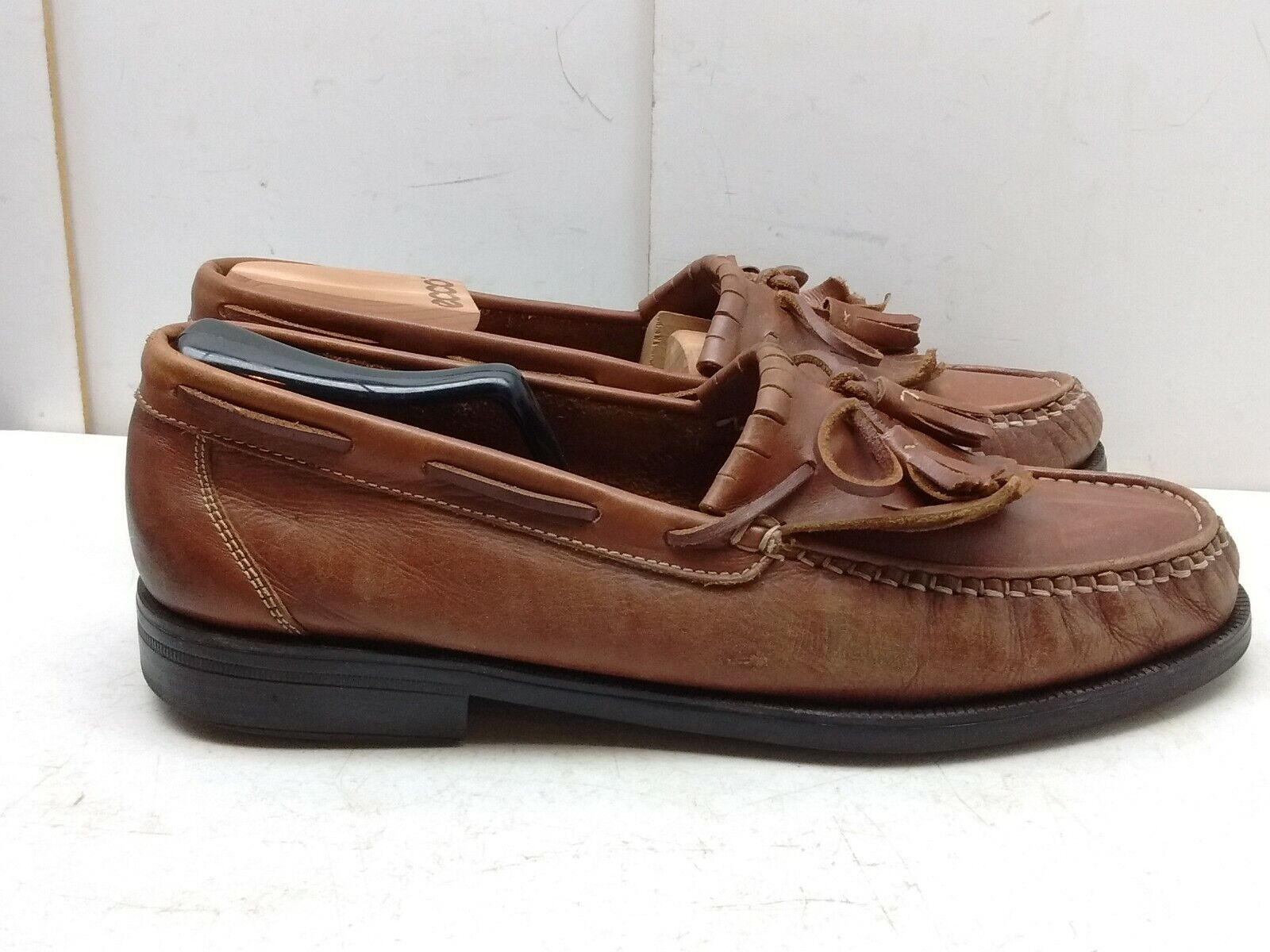 Giorgio Brutini Brown Leather Slip On Loafer Moccasin Camp Boat Men shoes 12M 45
