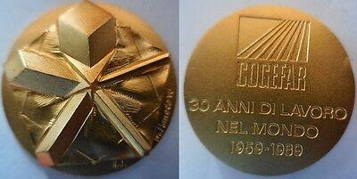 medaglia visita del presidente Cossiga San Marino 1990 inc Arnaldo Pomodoro box