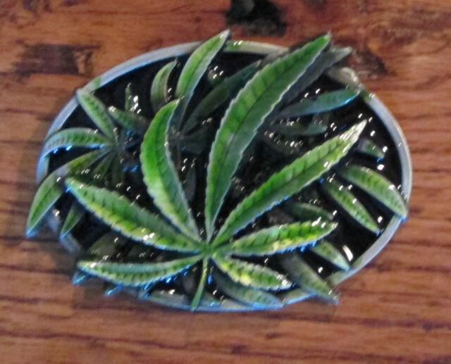 Marijuana Leaf Belt Buckle Biker Weed Pot Nug Shisha