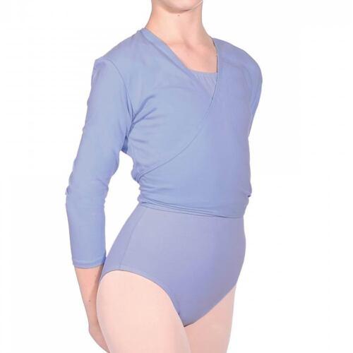 BRAND NEW ROCH VALLEY BALLET DANCE COTTON//LYCRA CARDIGAN PINK BLUE WHITE NIKKI