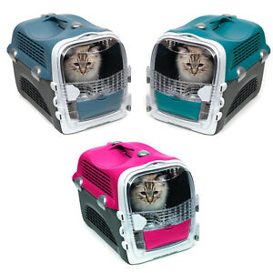 Catit-Cabrio-Cat-Dog-Carrier-Transporter-Cherry-Red-Blue-Grey-Turquoise