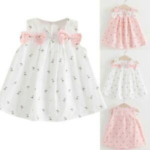 Toddler-Kids-Baby-Girls-Casual-Solid-Bow-Floral-Suspender-Princess-Party-Dress