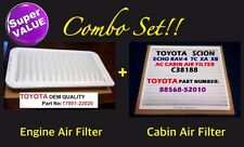 SCION TC Combo Set Engine Air Filter & CABIN AIR FILTER OEM PREMIUM QUALITY!!