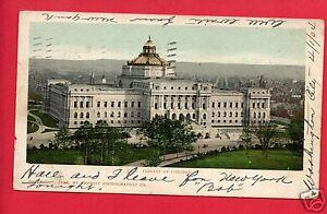LIBRARY-OF-CONGRESS-WASHINGTON-DC-1898-DETROIT-PHOTOGRAPHIC-POSTCARD