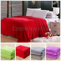 Luxury Soft Plush Flannel Fleece Warm Throws/Blankets Single/Double/King Size