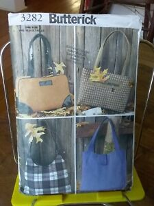 Oop-Butterick-3282-misses-handbags-lined-inner-compartments-4-styles-NEW