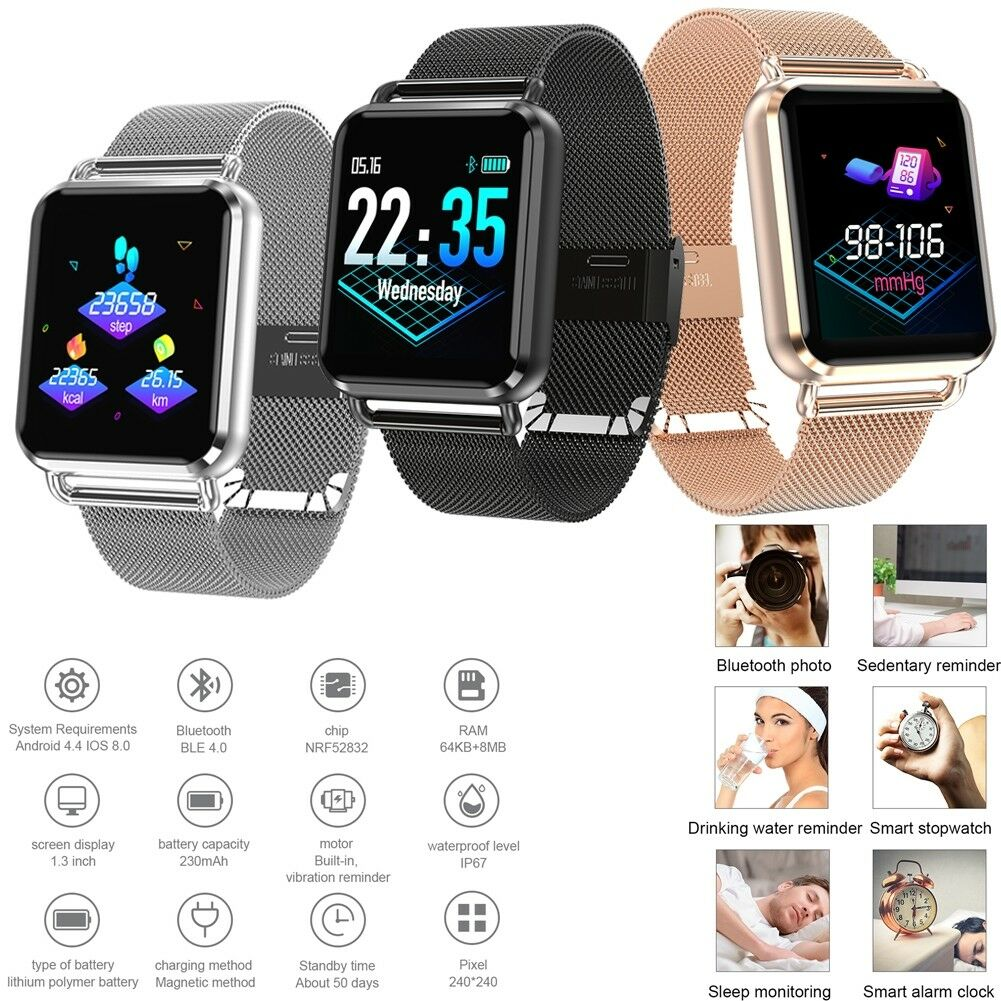 Fashion Bluetooth Smart Watch Heart Rate Sport Fitness Tracker for Women Men bluetooth fashion Featured fitness for heart rate smart sport tracker watch