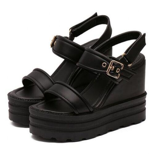 Cm Noir Cw524 Sandales formes Confortable Hauts Compensé Plates Femmes 12 nqUYw7