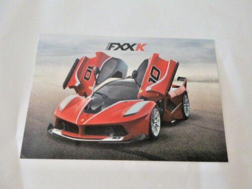 2014  CARD genuine Ferrari technical specification Ferrari  FXXK