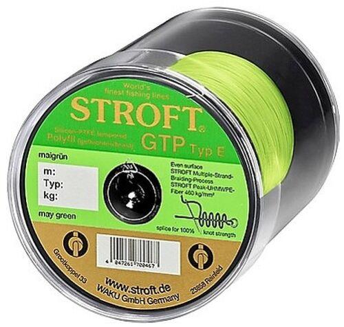 STROFT GTP E 100 m Maigrün may green Geflochtene Angelschnur von E06 bis E8
