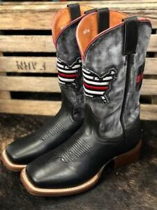 f9845b43968 Details about Dan Post Men's Thin Red Line Square Toe Western Boot DP4514