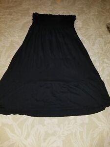 Express-Medium-Black-Strapless-Dress