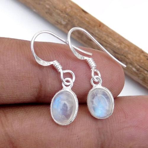 AMETHYST Natural Moonstone CITRINE Gemstones Bezel Set Silver Earrings-EB1809