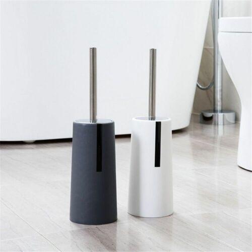Toilet Brush Holder Set Household Clean Supplies Standing Stainless Steel