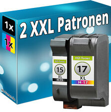 SET REFILL TINTE PATRONEN für HP 15+17 DeskJet 825c 840c 845c C6615DE+C6625AE