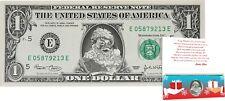 Santa Claus Dollar Bill w/ Greeting Card Christmas Stocking Stuffer - REAL USD!