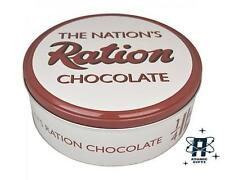NEW RETRO VINTAGE STYLE RATION BOOK CHOCOLATE CAKE TIN KITCHEN STORAGE