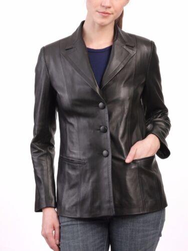 Fit Lambskin Coat Blazer Kvinders Designer ægte Læder Slim Jacket x7qx6ST