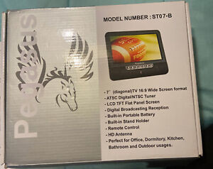 """Pegasus ST07-B 7"""" Digital TV With ATSC Tuner WITHOUT Remote"""