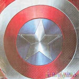 Captain America Civil War Lunch Napkins 16 Birthday Party