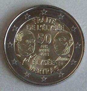 Efficace 2 Euro France 2013 Elysée-traité Unz.-afficher Le Titre D'origine RafraîChissement