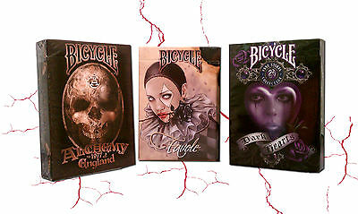 Lot 3 Deck Bicycle Fantasy Art  Favole Alchemy II Anne Stokes II Playing Cards
