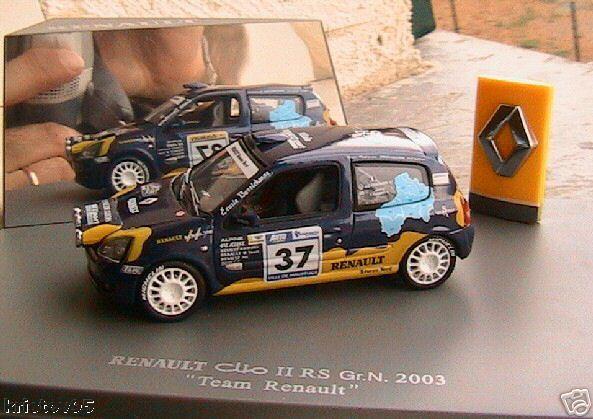 Renault clio II rs gr n 2003 team renault uh 1 43 rally