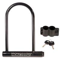Mongoose Large Bicycle U-lock , New, Free Shipping